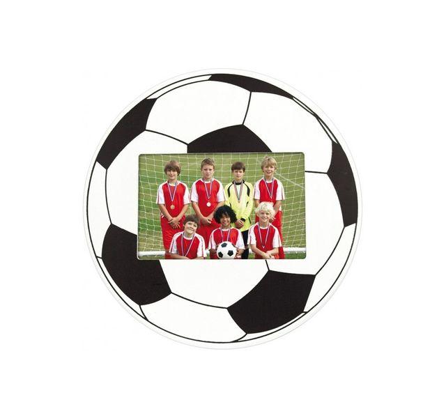 Zep Cadre Photo en Forme Ballon de Foot Bois Noir/Blanc 10 x 15 cm