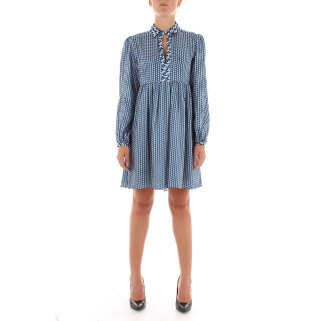 Nenette Femme Alberta300 Bleu Coton Robe