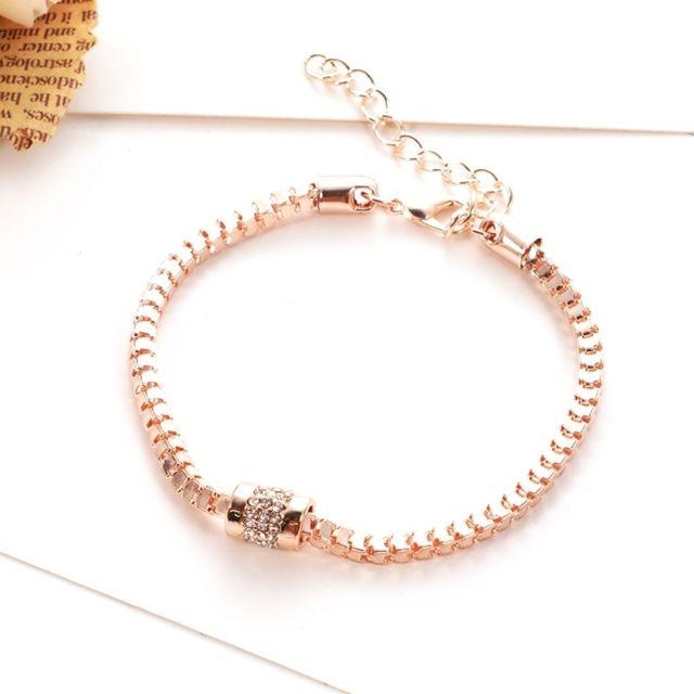 conception de la variété grand Prix une performance supérieure Bracelet rose Neutre Or Bijoux Simple Mode Accessoires Boutique Zircon  Diamant