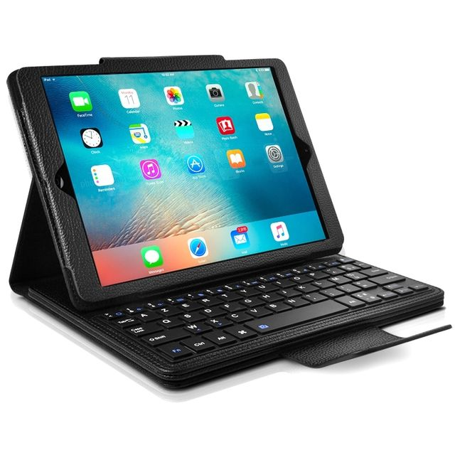 en soldes 8a9b6 b72dc Etui de Protection avec Clavier Français Azerty Français Bluetooth pour  Apple iPad Air 1 / Air 2