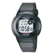 Casio - F-200W-1AEF - Montre Homme- Quartz digitale - Chronographe - Alarme - Bracelet Plastique 2 fuseaux horaires