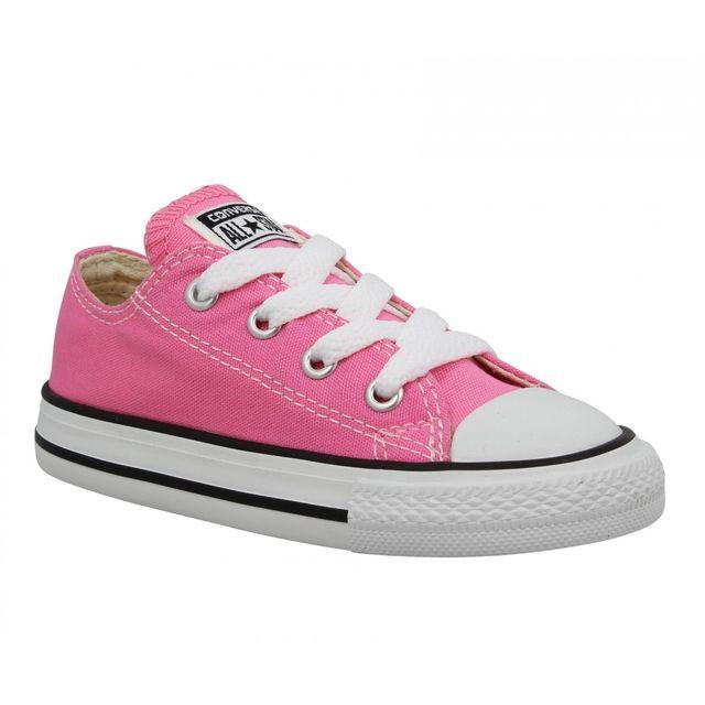 4f70c0aa28432 Converse - Chuck Taylor All Star toile Enfant-23-Pink - pas cher Achat    Vente Baskets enfant - RueDuCommerce