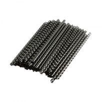 Pavo - Peigne plastique pour reliure A4 - 21 anneaux - 10 mm - 100 relieurs noirs