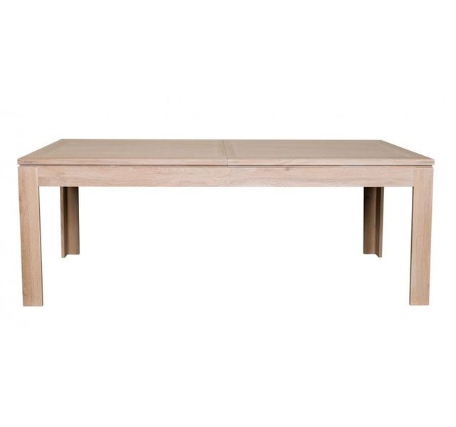 Hellin table moderne extensible boston 160 cm en ch ne for Table extensible 160