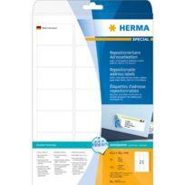 Herma - étiquettes SuperPrint,63,5x38,1mm,détachables,blanches