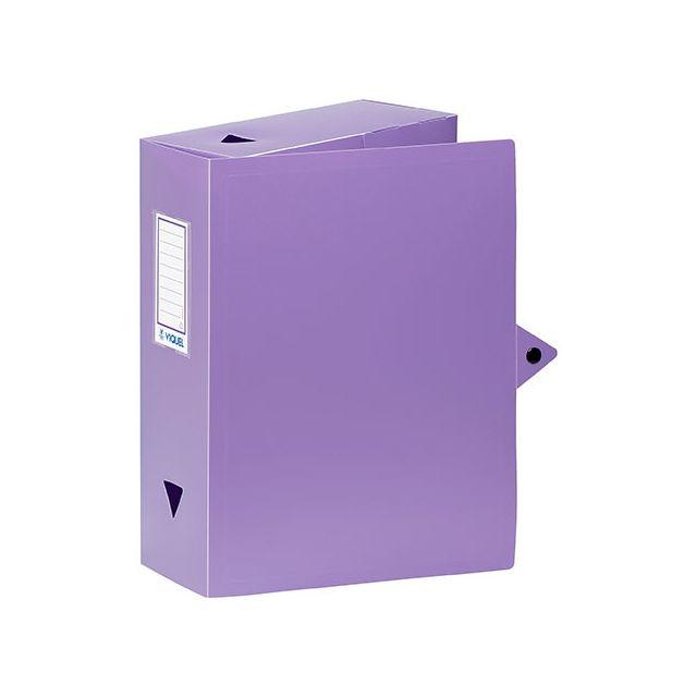viquel bo te de classement plastique dos 10 cm violette lot de 4 pas cher achat vente. Black Bedroom Furniture Sets. Home Design Ideas