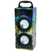 Party Light&sound - Party Light & Sound Party-disco2 - Mini colonne autonome 20W avec lecteur Usb, micro Sd, tuner Fm, bluetooth