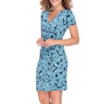ff13d61b8e7 Revdelle - Robe Cache Coeur Col V Made In France Manches Longues Pour Femme  Camille Taille
