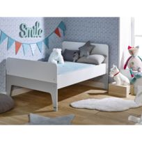 JUNIOR PROVENCE - Lit enfant évolutif city blanc/gris 90x140/200