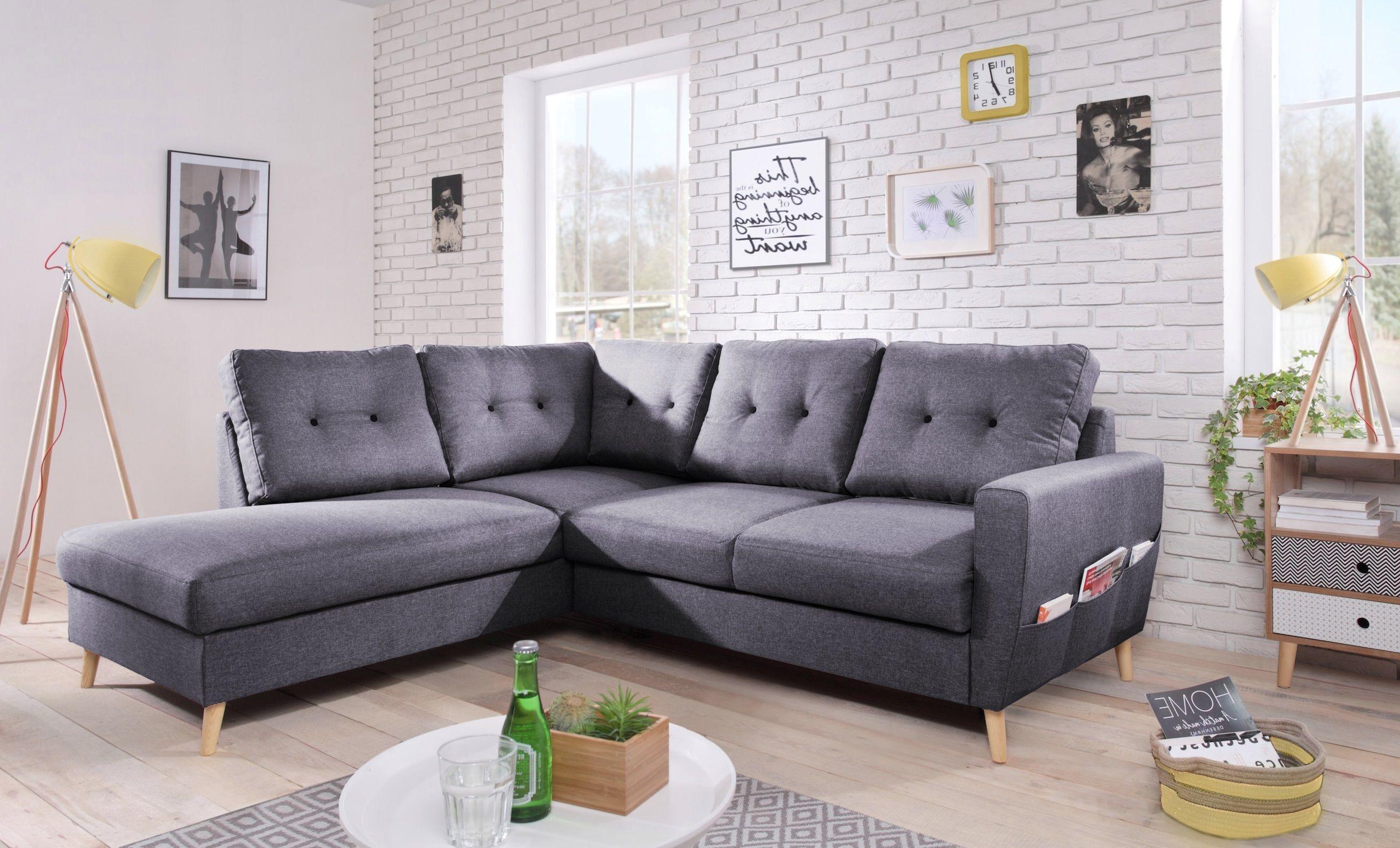 bobochic canap scandi 6 places et convertible angle gauche gris fonc 198cm x 90cm. Black Bedroom Furniture Sets. Home Design Ideas