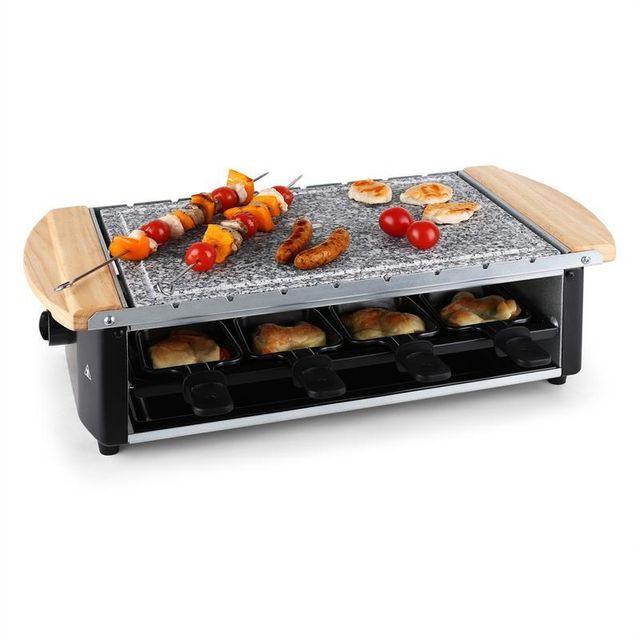 KLARSTEIN Grill raclette avec pierre et broches 8 personnes