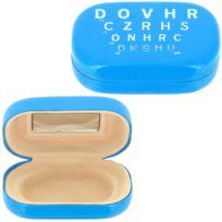 Promobo - Boitier à Lentilles Luxe Étui de protection Miroir Optique Bleu