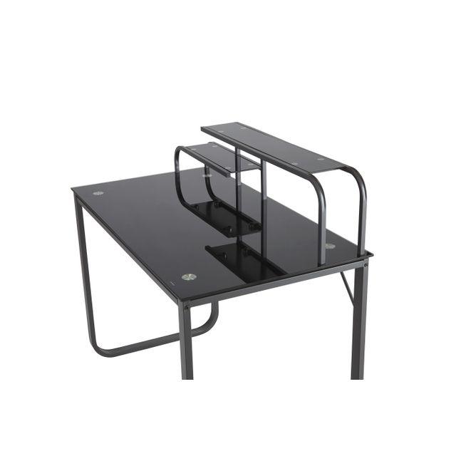 rue du commerce bureau verre et m tal noir romont. Black Bedroom Furniture Sets. Home Design Ideas