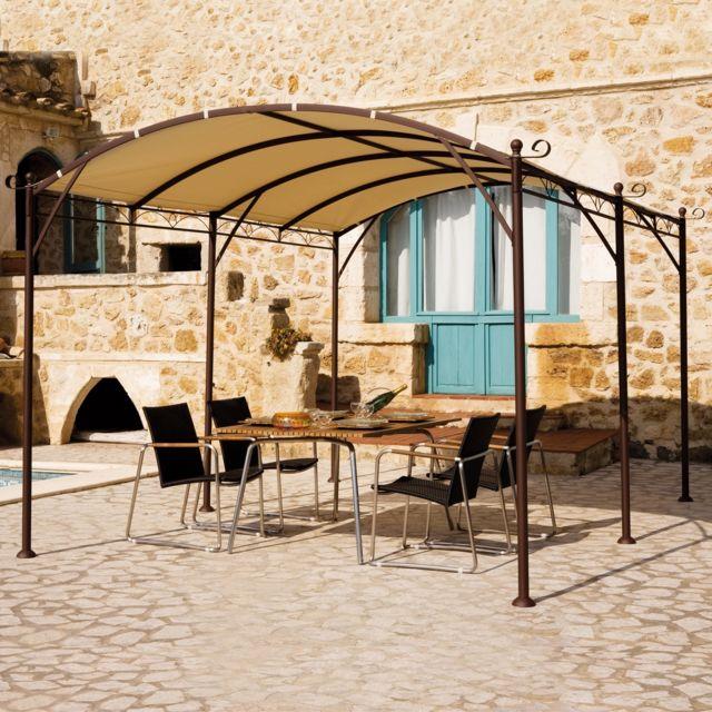 Parasol Aluminium Luxe 3 X 4 M Residence.Residence Tonnelle Autoportante Illusion 3 M X 4 M Toile Sans