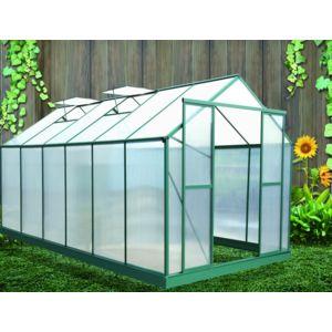 Habrita serre de jardin 12 m2 polycarbonate topaze 3 x 4 for Serre de jardin carrefour
