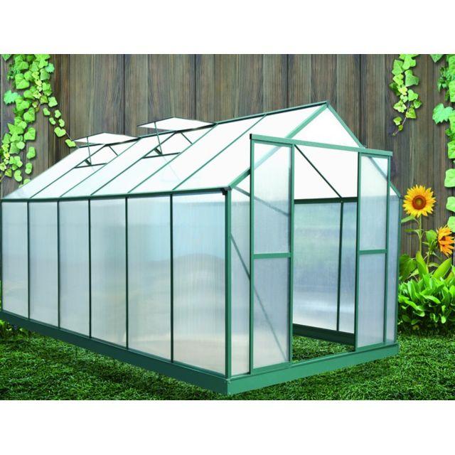 Habrita serre de jardin 12 m2 polycarbonate topaze 3 x x m non pas cher achat - Serre de jardin carrefour ...