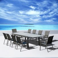 Table de jardin aluminium extensible - Achat Table de jardin ...