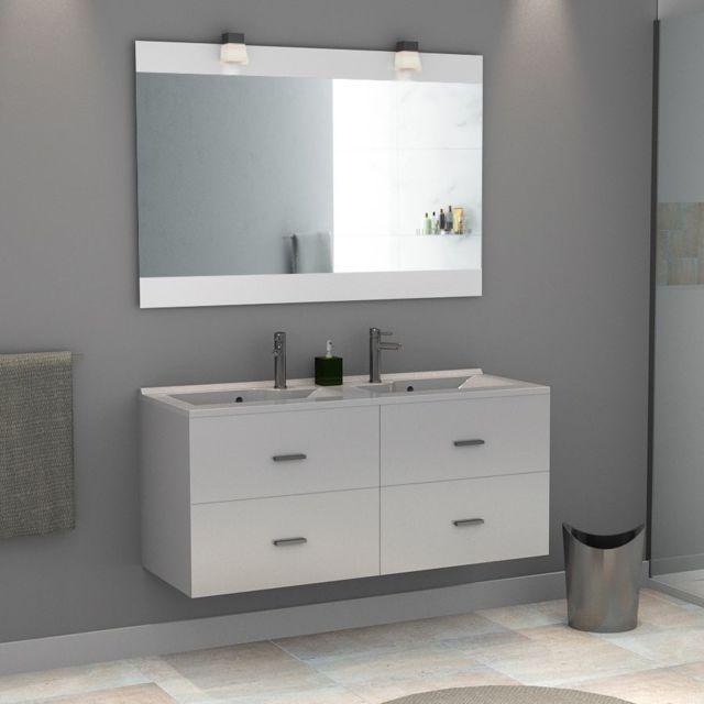cool meuble salle de bain double vasque rosa blanc brillant with meuble salle de bain prune - Meuble Salle De Bain Prune