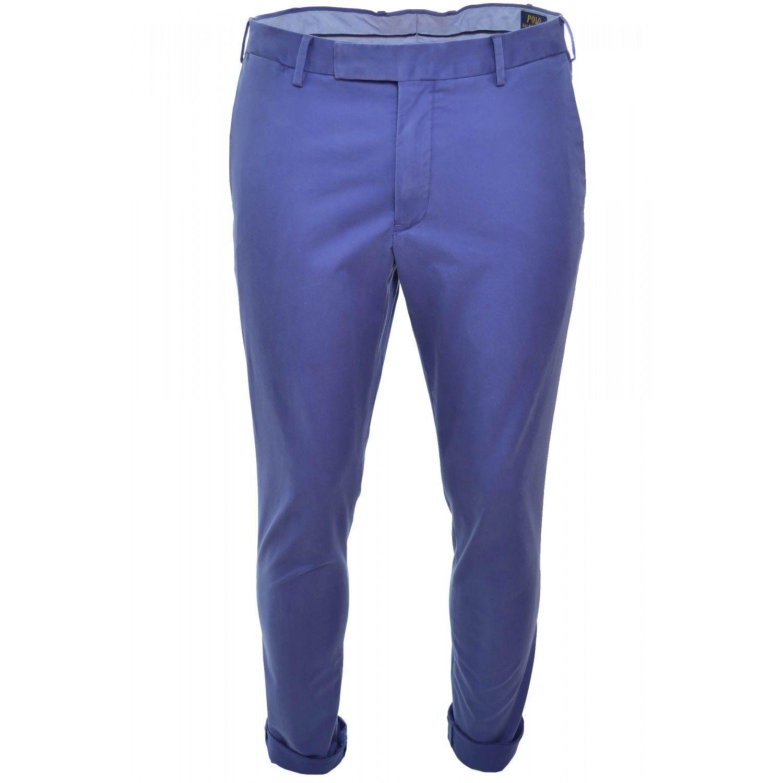 46d97c8211e66 RALPH LAUREN- Pantalon chino bleu pour homme