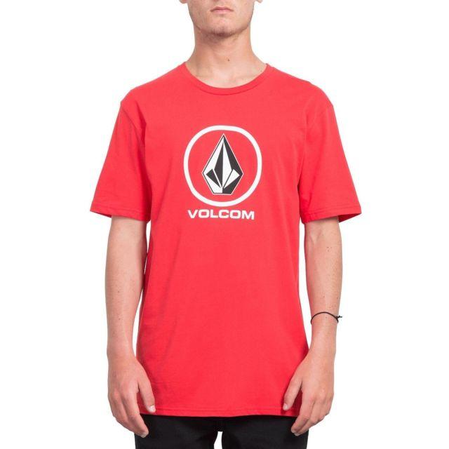 Volcom - T-shirt Crisp Stone Rouge Homme