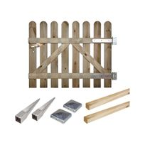 Cemonjardin - Portillon kit en bois Coquelicot à enfoncer