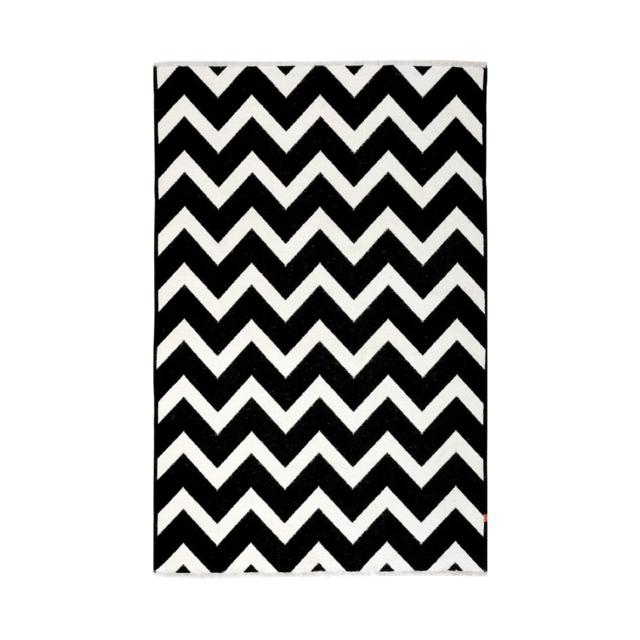 Homense Tapis Motif Geometrique Reversible Blanc Et Noir Nice
