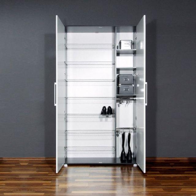 marque generique meuble chaussures 38 paires grande hauteur l100cm owen blanc carbone