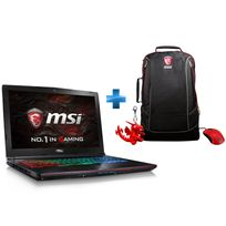 MSI - GE62VR 6RF-221XFR Apache Pro - Noir + Pack GE : Sac à dos + Porte-clé Dragon + Souris Gaming