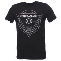 Solid - Tee shirt manches courtes Gibsyn black mc tee Noir 28303