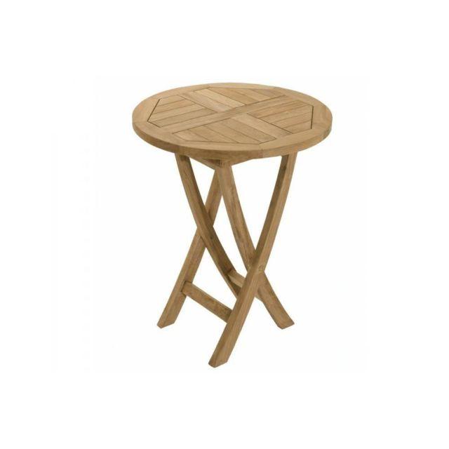 jardin table ronde teck. Black Bedroom Furniture Sets. Home Design Ideas