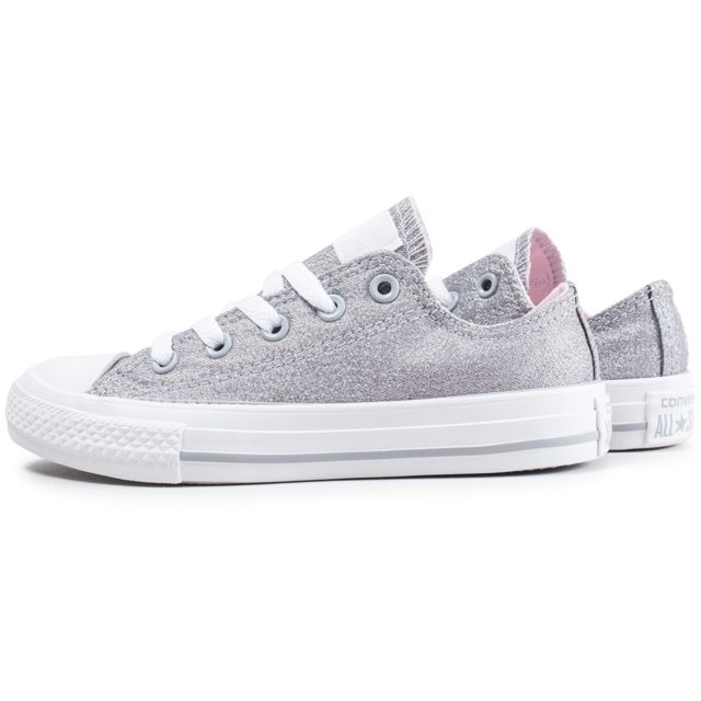 Converse Chuck Taylor All Star Low Enfant Gris Pailleté