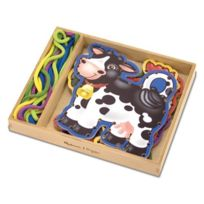 Melissa & Doug - 13781 - Loisir CrÉATIF - Wooden Panels & Laces Farm Animals