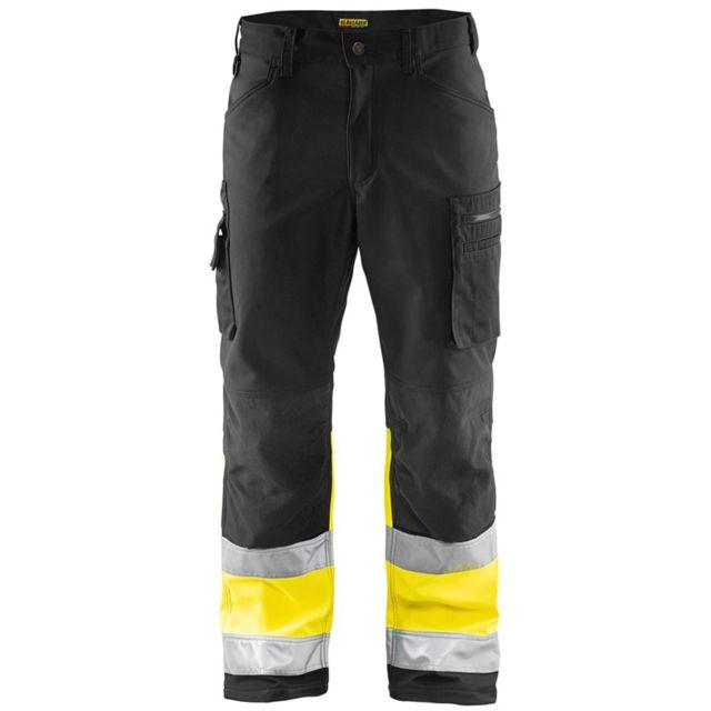 Blaklader Pantalon de travail haute visibilité softshell Stretch classe 1