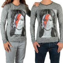 Little Eleven Paris - Tee Shirt Selena Ls Selena Gomez Mixte Garçon / Fille, Gris Cotton Vintage