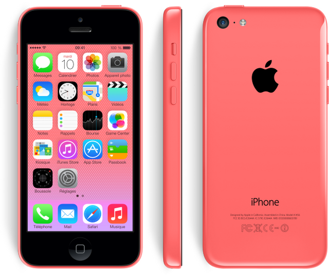 APPLE - iPhone 5C - 32 Go - Rose - Reconditionné