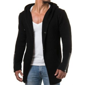 beststyle gilet boutonn homme noir long a capuche classe pas cher achat vente gilet homme. Black Bedroom Furniture Sets. Home Design Ideas