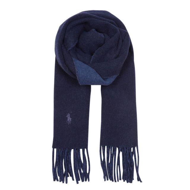 bec72199e7d0 Polo Ralph Lauren - Echarpe bicolore Bleu MULTICOLOR - pas cher Achat   Vente  Etoles, châles - RueDuCommerce