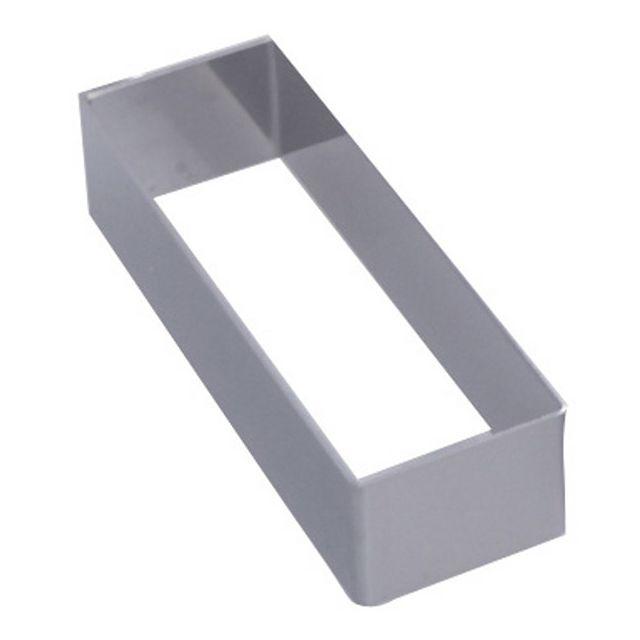 DE BUYER cadre rectangle inox 12.4x4.3cm - 3943.12