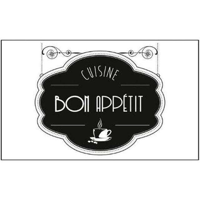 Paris prix adh sif mural cuisine bon app tit 75x45cm noir pas cher achat vente stickers - Adhesif mural cuisine ...