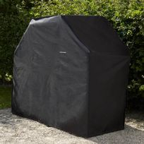 Cook'IN Garden - Housse pour barbecue 3 brûleurs 160x60x130cm Noir Ac007