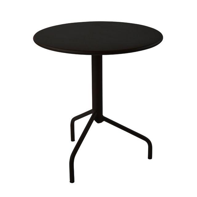 Rm Metal - Table ronde de Jardin en métal pliante 3 pieds ...