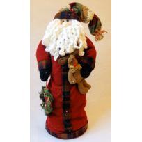 No Name - Superbe Père Noël Pliant à Ressort Modèle haut de gamme, mesurant 60 cm - Décoration Noël