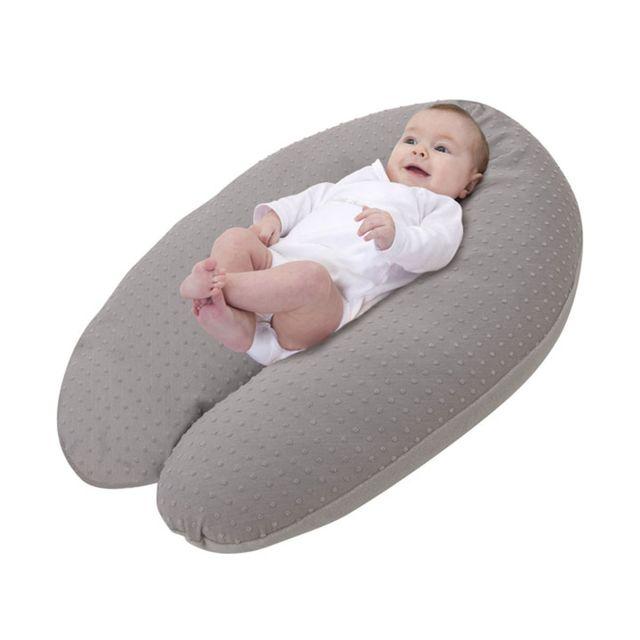 BABYMOOV Coussin d'allaitement Plumetis - Taupe Le coussin d'allaitement au coloris sobre qui s'intègre dans tous les intérieurs pour accompagner la maman et les premiers mois de bébé