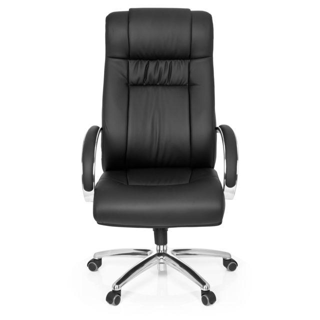 Hjh Office Fauteuil de direction Xxl G 600 simili cuir noir