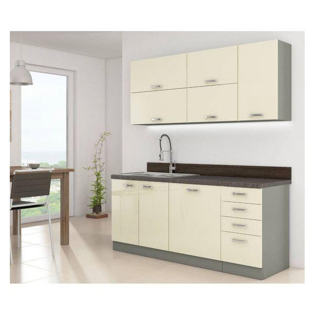 g n rique le depot bailleul cuisine compl te karmen 180 cm pas cher achat vente cuisine. Black Bedroom Furniture Sets. Home Design Ideas