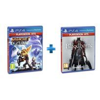 SONY - 2 jeux PS4 HITS : RATCHET & CLANK + BLOODBORNE