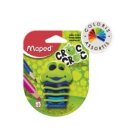 Maped - Taille-crayons Croccroc Chenille - 2 Trous - Coloris assortis