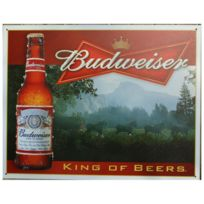 Universel - Plaque budweiser kink of beer tole deco bar biere americaine