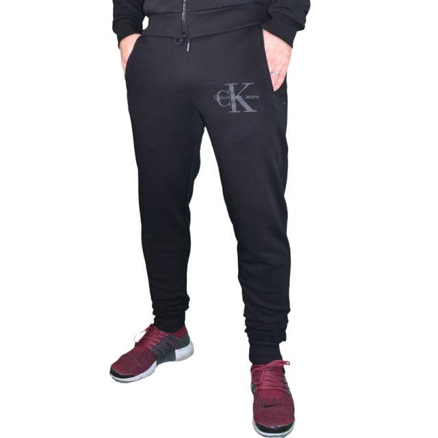 Calvin Klein - Bas De Jogging - Homme - Ck Pants Slim - Noir - pas cher  Achat   Vente Survêtement homme - RueDuCommerce a8176a97ba5