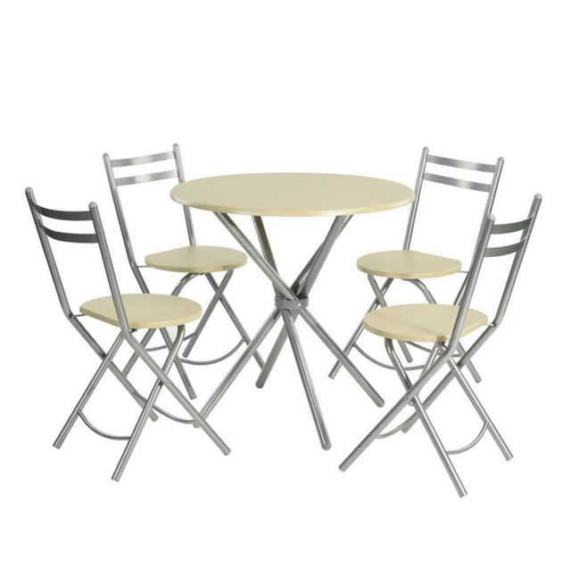 Sans Marque Furnish1 1 Table 4 Chaises Pliantes